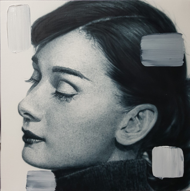 Acrylic, Airbrush Paintings by ART CENTER PPLUS Titled Audrey Hepburn: 2nd Edition. Portrait / People Paintings