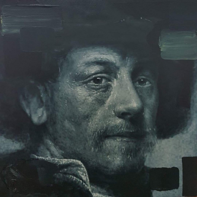 Acrylic, Airbrush Paintings by ART CENTER PPLUS Titled Rembrandt. Portrait / People Paintings