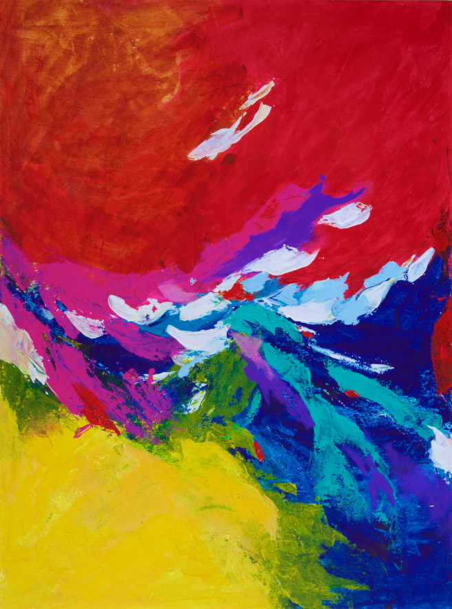 Color, Others Paintings by Anshoo Tikoo Zutshi Titled Windswept. Abstract, Landscape, Nature, Others Paintings