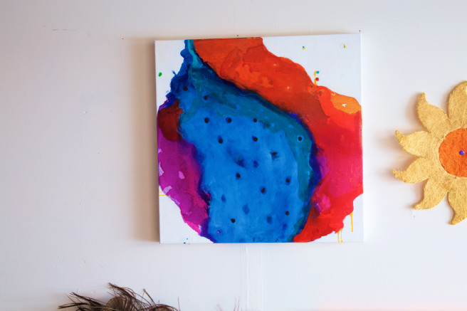 Acrylic Paintings by Anshoo Tikoo Zutshi Titled The Song in my head. Abstract, Others Paintings