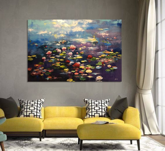 Oil, Others Paintings by Arthur Voronov Titled water lilies. Abstract, Landscape, Nature Paintings