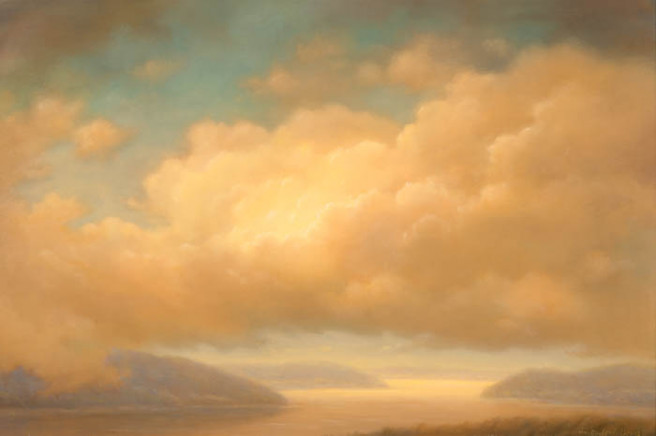 Acrylic, Oil Paintings by CCFA Fine Art Titled Cloud Expanse. Landscape, Nature Paintings