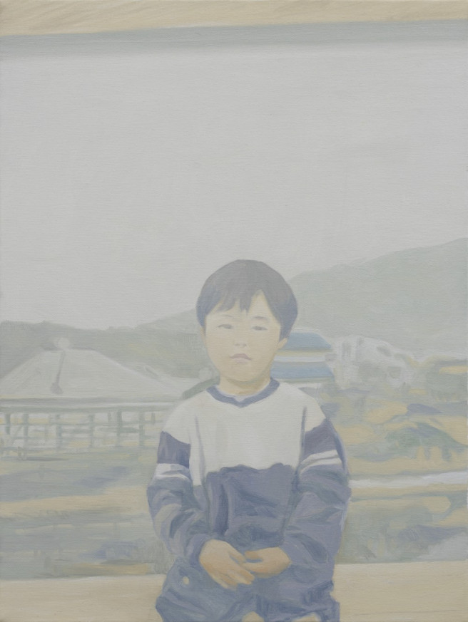 Oil Paintings by Deok ki  Kim Titled Childhood. Children / Family, Others Paintings