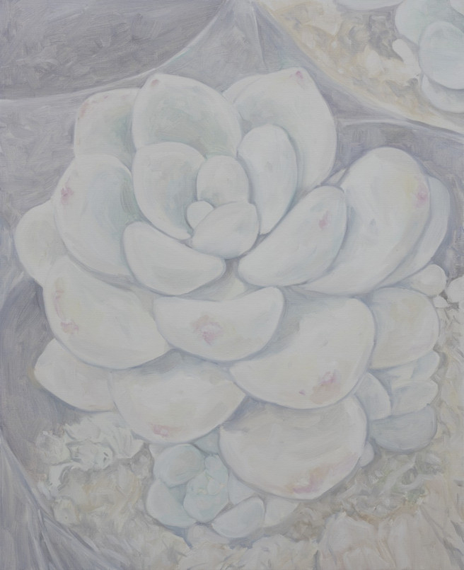 Oil Paintings by Deok ki  Kim Titled Sedum  Clavatum. Nature, Floral Paintings