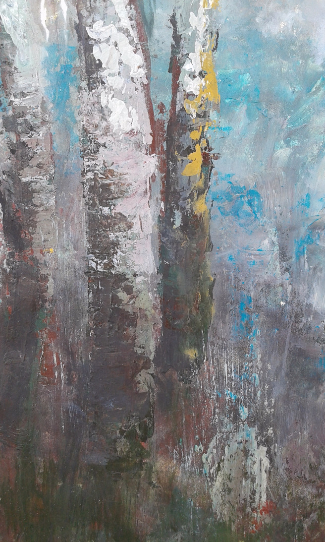 Acrylic Paintings by Emilia Milcheva Titled Trees stories #1, original acrylic painting. Landscape, Nature Paintings