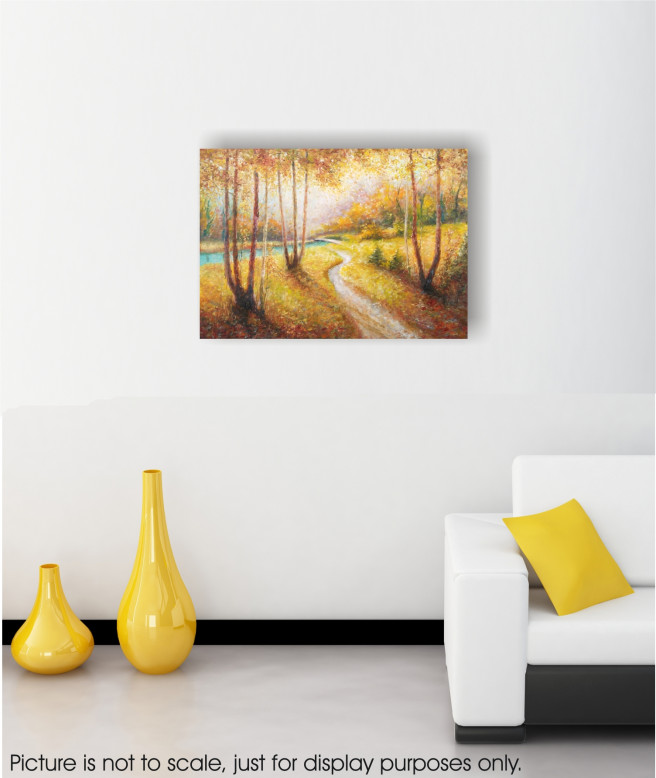 Oil Paintings by Emilia Milcheva Titled AUTUMN WALK, original oil landscape painting. Landscape, Nature Paintings