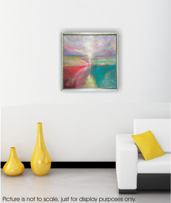 Oil Paintings by Emilia Milcheva Titled LAND OF HOPE, original oil abstract landscape painting. Abstract, Landscape, Nature Paintings