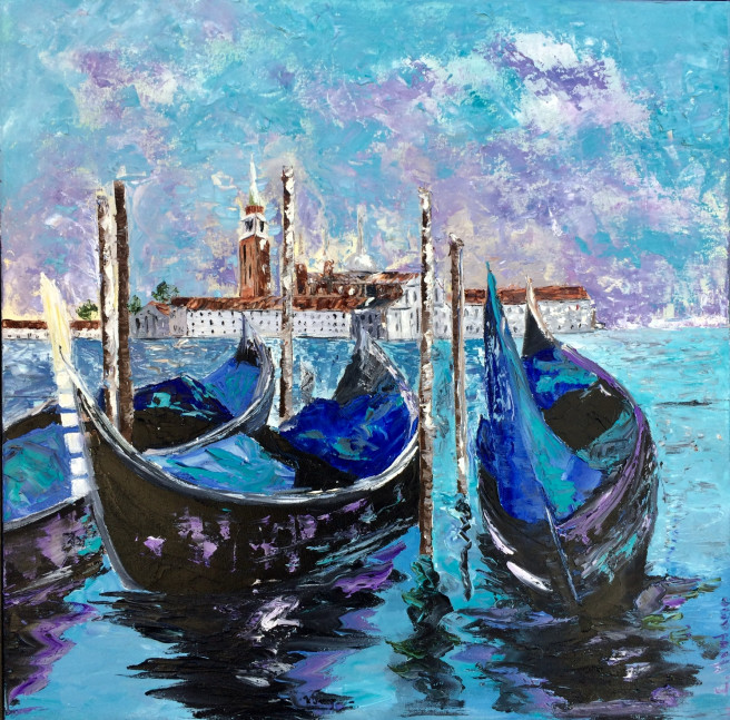 Oil Paintings by Inna Montano Titled Venice. Architecture / Cityscape Paintings