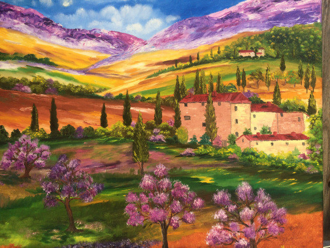 Oil Paintings by Inna Montano Titled Colors of Tuscany. Landscape, Nature Paintings