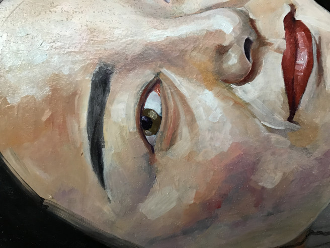 Color, Oil, Pencil Paintings by JASON BALDUCCI Titled GIUSY. Portrait / People Paintings