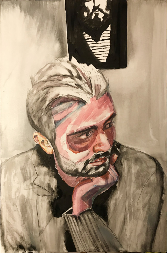 Acrylic, Gouache, Pastel, Pencil Paintings by JASON BALDUCCI Titled Massi. Portrait / People Paintings