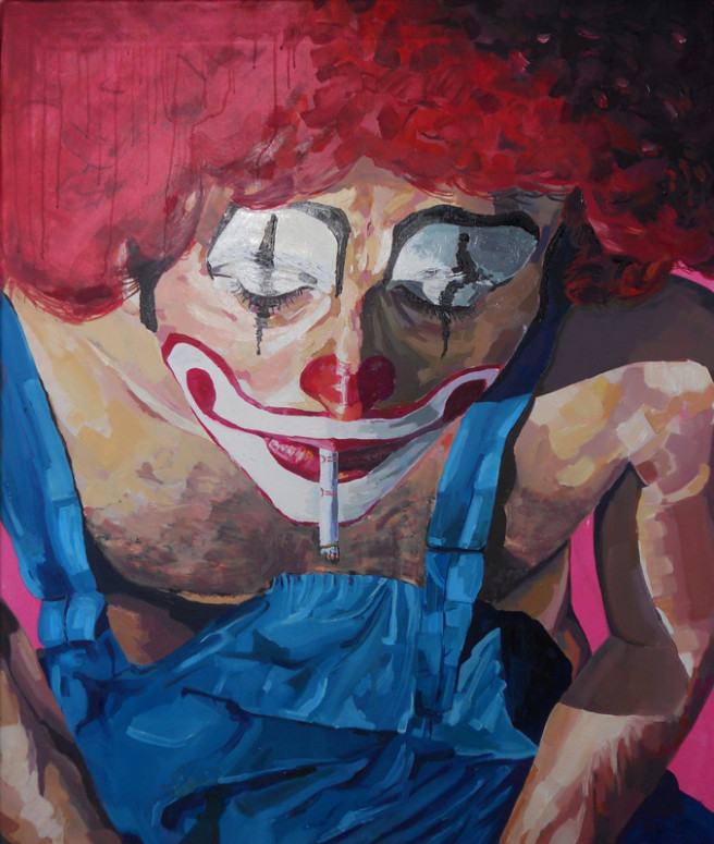 Oil, Pencil Paintings by JASON BALDUCCI Titled Payaso 1. Portrait / People Paintings
