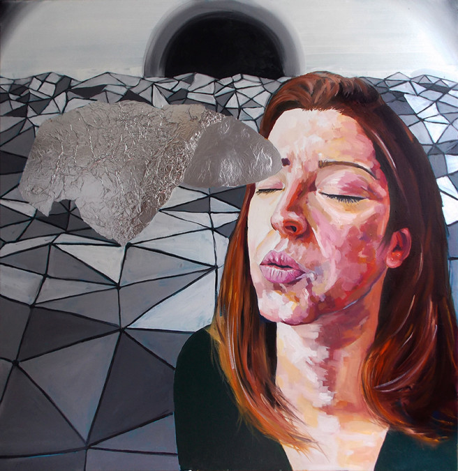Acrylic, Oil Paintings by JASON BALDUCCI Titled Light as aluminium. Portrait / People Paintings