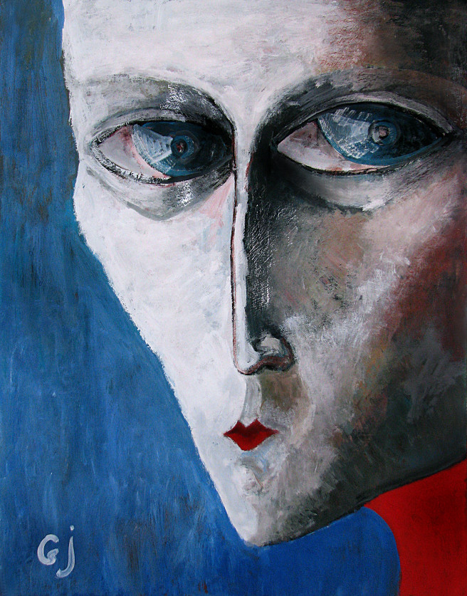 Gouache Paintings by Giorgi Jamburia Titled Portrait. Portrait / People Paintings