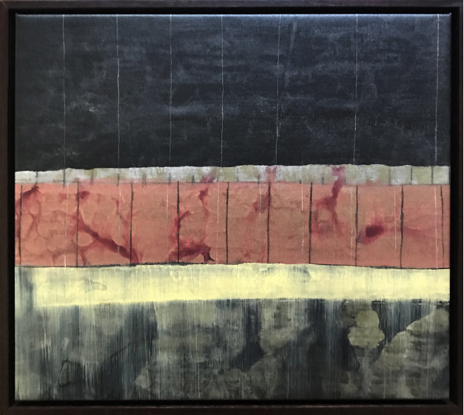 Acrylic, Etching, Graphite, Ink, Mixed Media, Pencil Paintings by Jeff Green Titled Continuum no. 7. Abstract Paintings