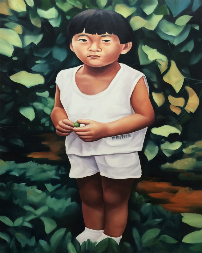 Oil Paintings by Jimin Lim Titled The Last One. Children / Family, Portrait / People Paintings