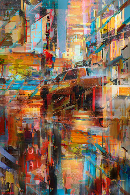 Digital, Manipulated, Photograph Digital Art by Joe Ganech Titled A taxi to Broadway. Landscape, Architecture / Cityscape, Still Life, Transportation Digital Art