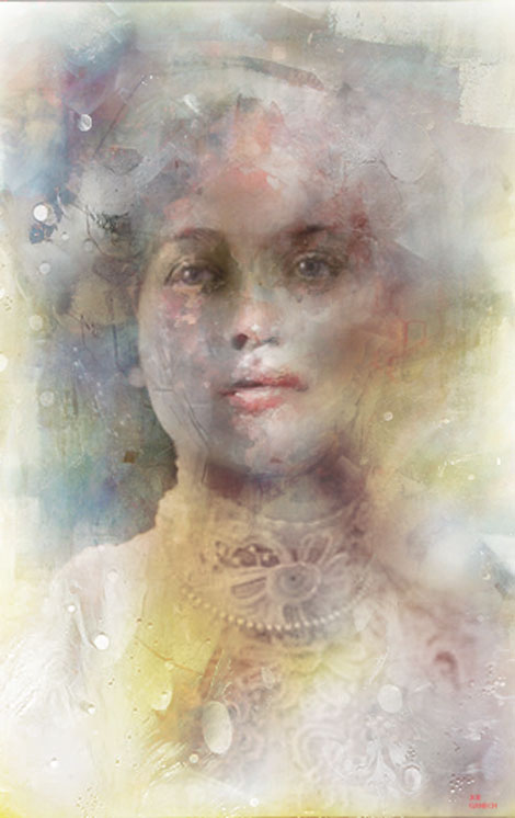 Manipulated, Mixed Media, Photo, Photograph Digital Art by Joe Ganech Titled Portrait of a lady. Portrait / People Digital Art