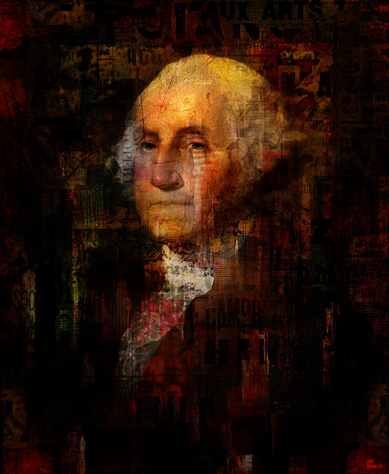 Digital, Manipulated, Mixed Media Digital Art by Joe Ganech Titled President. Celebrity, Portrait / People Digital Art