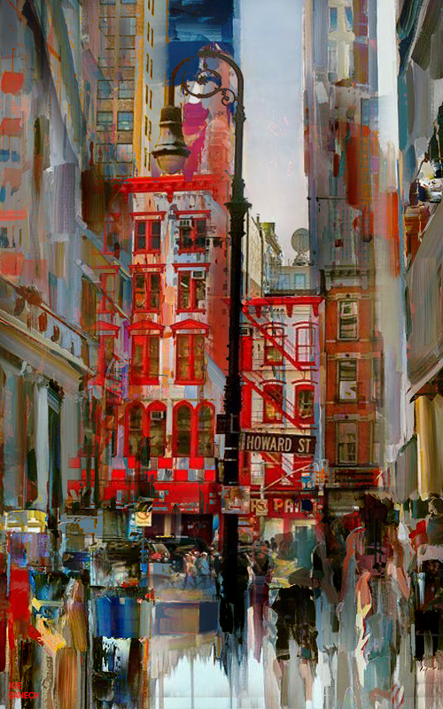 Digital, Manipulated, Photograph Digital Art by Joe Ganech Titled Soho. Landscape, Architecture / Cityscape Digital Art