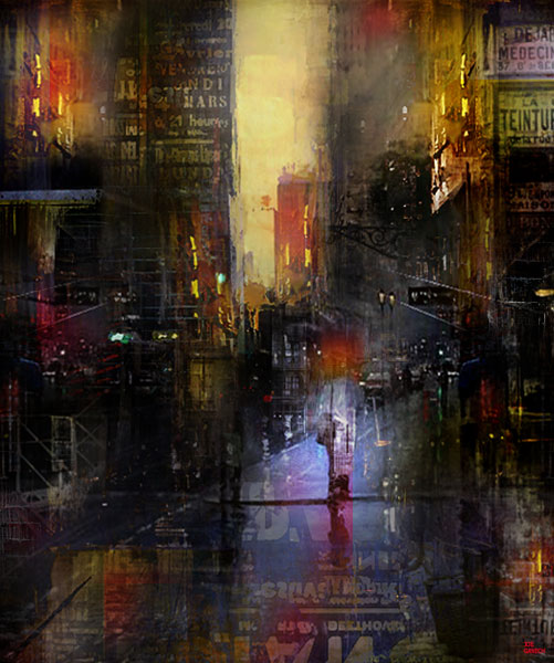 Digital, Giclée, Manipulated, Photograph Digital Art by Joe Ganech Titled  Start of the day. Landscape, Architecture / Cityscape Digital Art