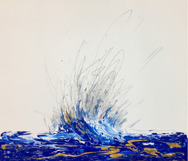 Acrylic Paintings by Muhyul  Park Titled Drawing. Abstract, Beach / Seascape, Nature Paintings