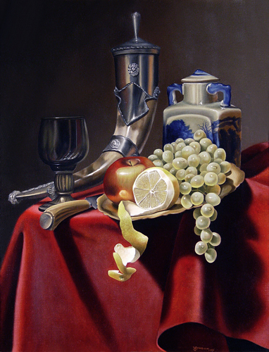 Oil Paintings by William Yenkevich Titled A Royal Dessert. Still Life Paintings