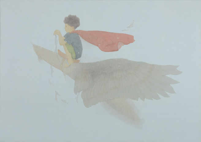 Paper, Pencil, Others Paintings by JiHyun Yoon Titled Little Prince, that  is .... Abstract, Children / Family, Fantasy Paintings