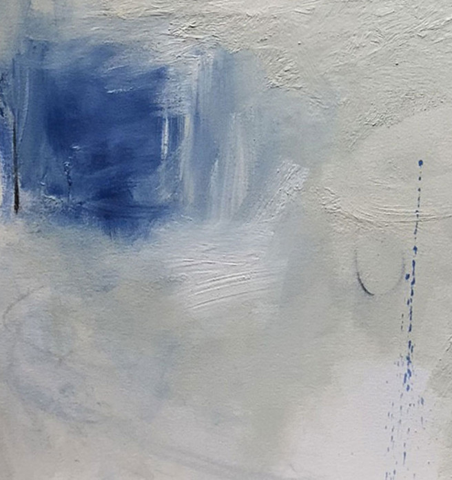 Acrylic, Charcoal, Mixed Media, Oil, Wax Paintings by Judy Hintz COX Titled LP Series 2. Abstract Paintings